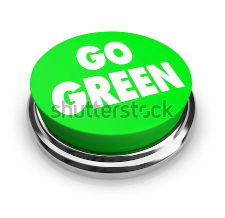 Play Word on Round Green Button Stock photo © iqoncept
