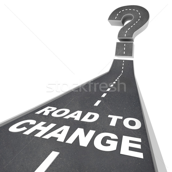 Road to Change - Words on Street Stock photo © iqoncept