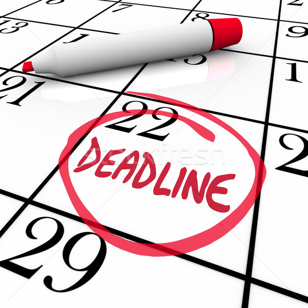 Deadline Word Circled on Calendar Due Date Stock photo © iqoncept