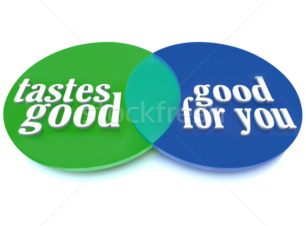 Tastes Good Healthy Food Venn Diagram Stock photo © iqoncept