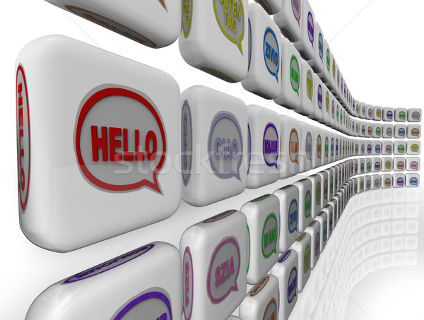 Hello Words Global Languages Diversity Cultures Welcome Stock photo © iqoncept