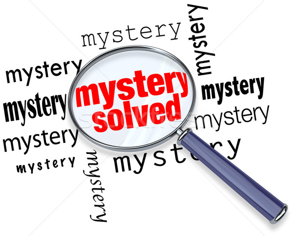 Mystery Solved - Magnifying Glass Stock photo © iqoncept