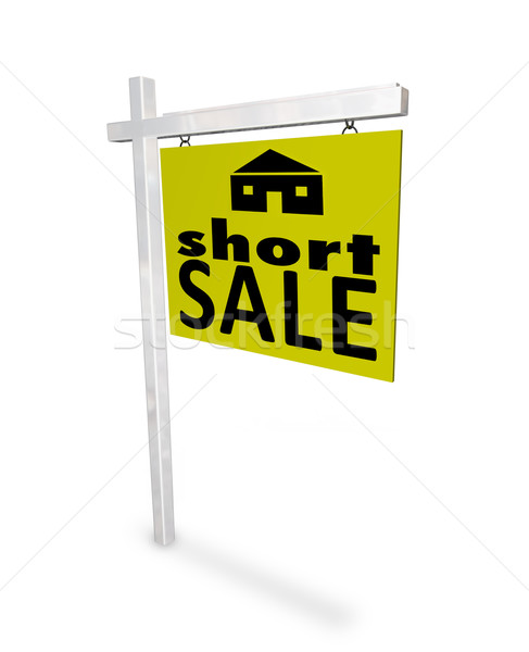 Short Sale - Home Sign Stock photo © iqoncept