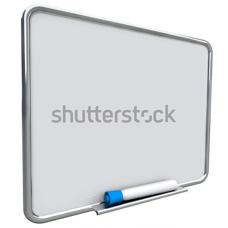 Blank White Dry Erase Board with Red Marker Stock photo © iqoncept