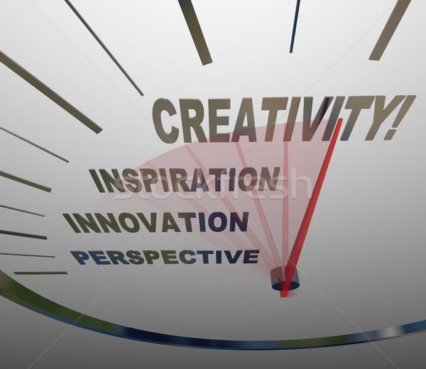 Creativity Innovation Imagination Speedometer New Ideas Stock photo © iqoncept