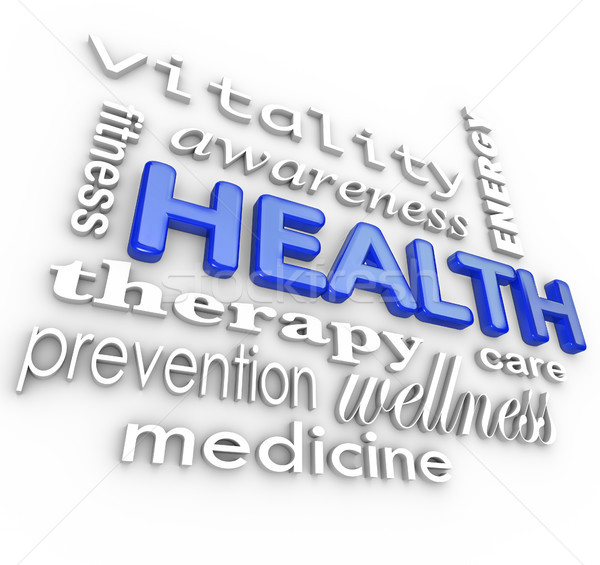 Health Care Collage Words Medicine Background Stock photo © iqoncept