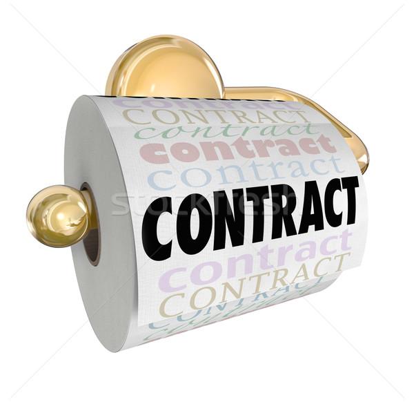 Contratto non valore carta igienica rotolare carta Foto d'archivio © iqoncept