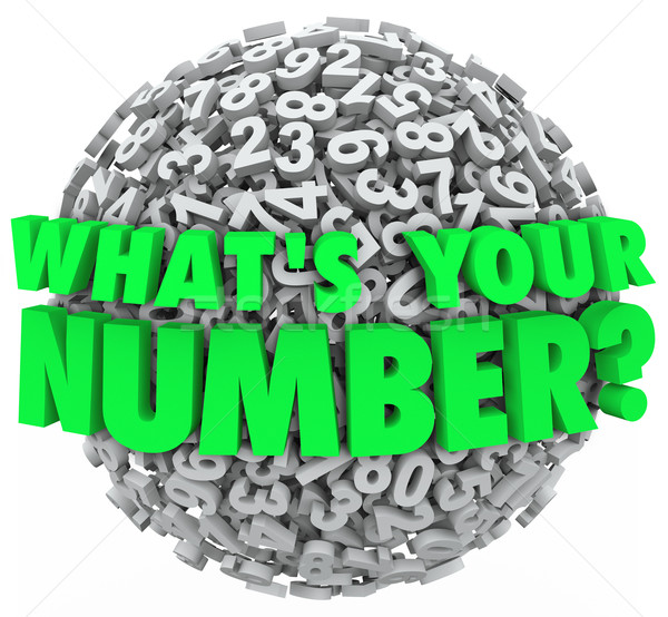 What's Your Number Question Sphere Credit Score Budget Limit Stock photo © iqoncept