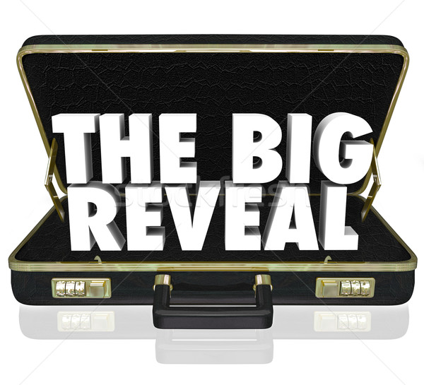 The Big Reveal Opening Briefcase Revealing Mystery Inside Stock photo © iqoncept