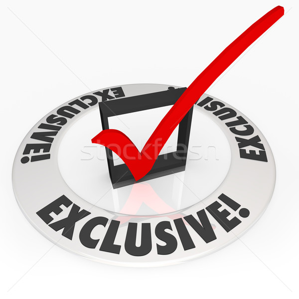 Exclusive Check Mark Box Ring Special Restricted Access Required Stock photo © iqoncept