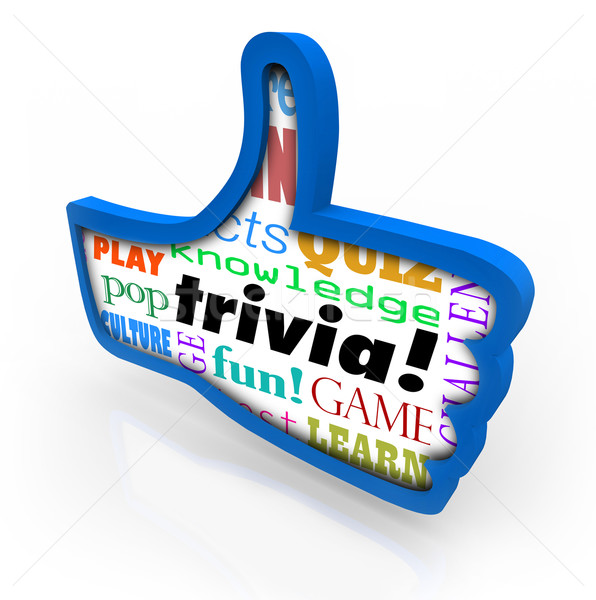 Thumbs Up Trivia Game Winner Feedback Share Social Network Stock photo © iqoncept