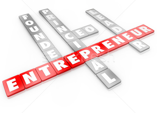 Entrepreneur Word Letter Tiles Founder CEO Business Leader  Stock photo © iqoncept