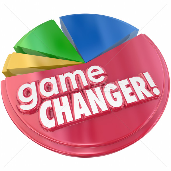 Game Changer Pie Chart Growing Market Share Competition Stock photo © iqoncept