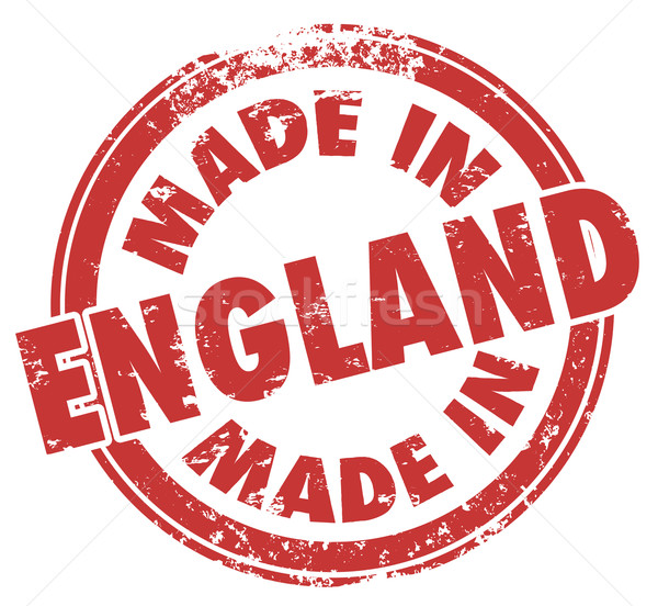 Stock photo: Made in England Stamp Great Britain United Kingdom UK