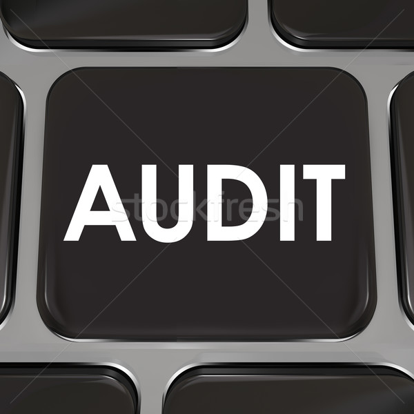 Audit Keyboard Computer Key Tax Accounting Review Bookkeeping Stock photo © iqoncept