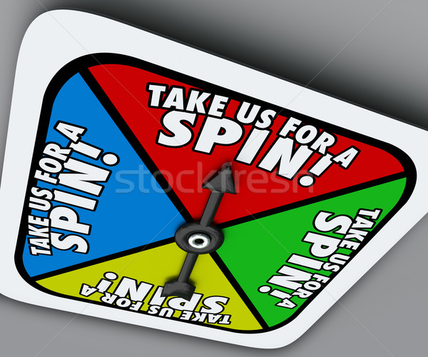 Take Us for a Spin Game Spinner Try Demo Trial Period Test Stock photo © iqoncept