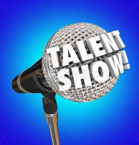 Talent Show Microphone Words Singing Competition Event Stock photo © iqoncept