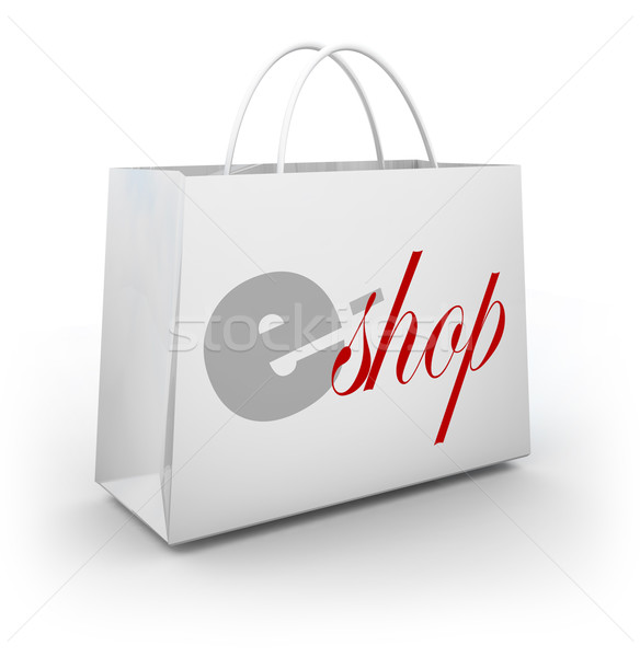 e-Shop Store Bag Buyer Customer Purchasing Products Merchandise  Stock photo © iqoncept