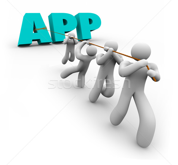 App mot demande promoteur Photo stock © iqoncept