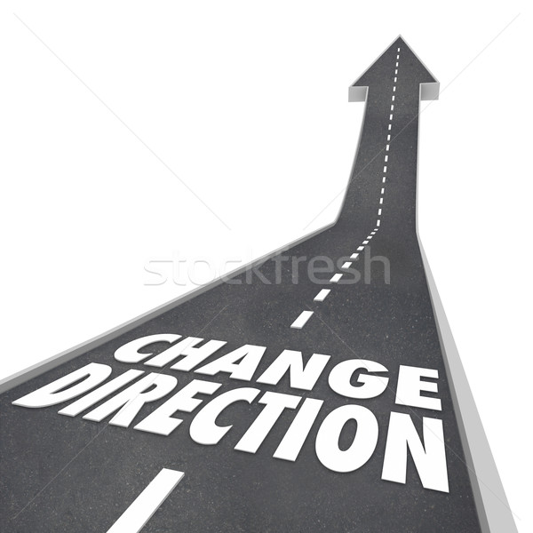 Change Direction Road Words New Course Way Route Moving Forward Stock photo © iqoncept