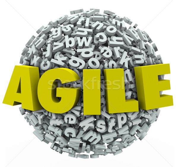 Agile Word 3d Letters Sphere Change Adapt Stock photo © iqoncept