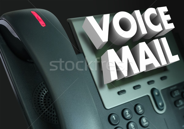 Voice Mail 3d Words Telephone Recorded Message Stock photo © iqoncept