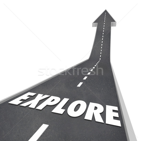 Explore Word Road Travel Fun Adventure Stock photo © iqoncept