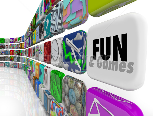 Fun and Games App Application Store Market Download Software Stock photo © iqoncept