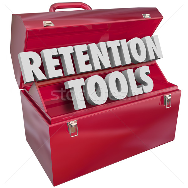 Retention Tools Toolbox Keep Retain Customers Employees Stock photo © iqoncept