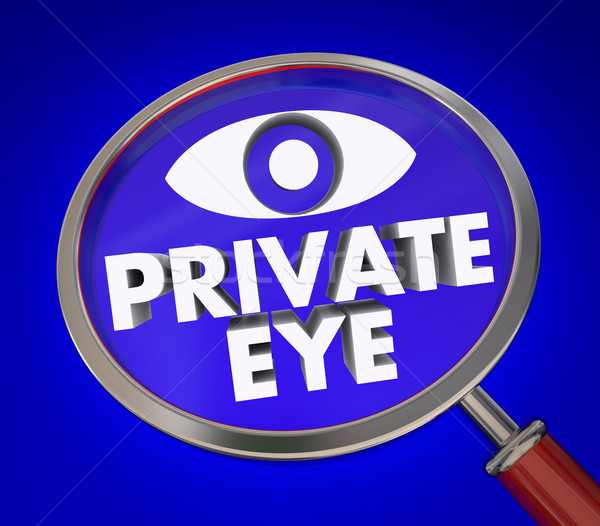 Private Eye Magnifying Glass Investigator Search for Clues Stock photo © iqoncept
