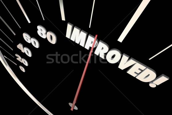 Improved Word Better Speedometer Progress 3d Illustration Stock photo © iqoncept
