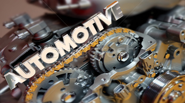 Stockfoto: Automotive · motor · auto · voertuig · auto · 3D