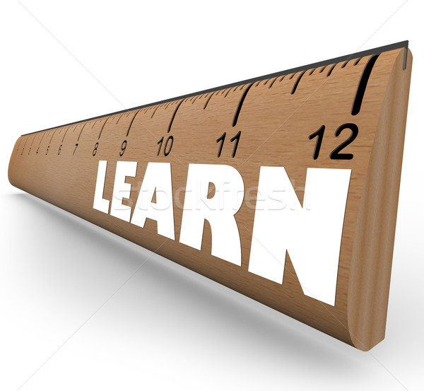 Learn Word on Ruler Measure Education Progress Growth Stock photo © iqoncept