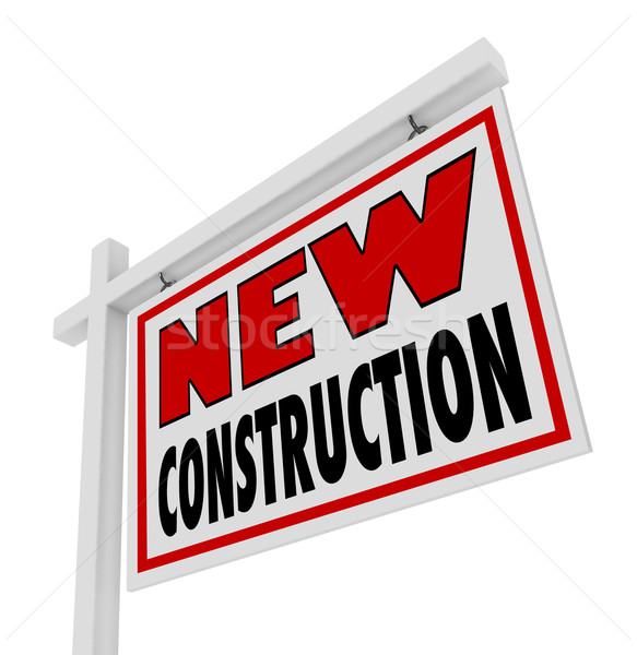 New Construction House for Sale Sign Home Real Estate  Stock photo © iqoncept