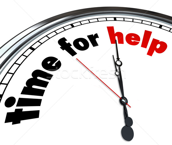 Time for Help Clock Countdown Fundraiser Charity Stock photo © iqoncept