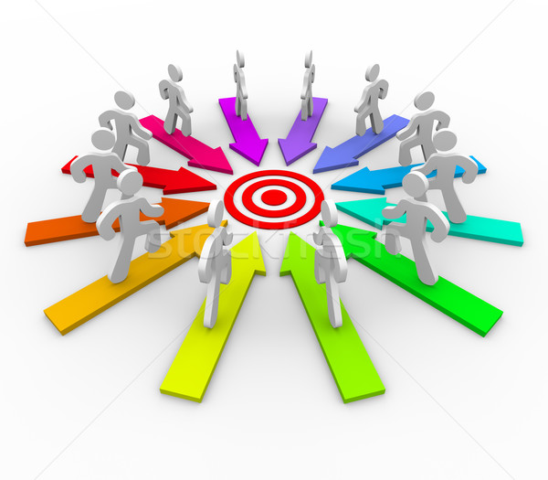Many Competing for Same Goal - Target Stock photo © iqoncept