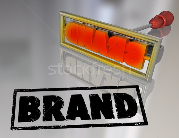Marke Wort Branding Eisen Marketing Produkt Stock foto © iqoncept