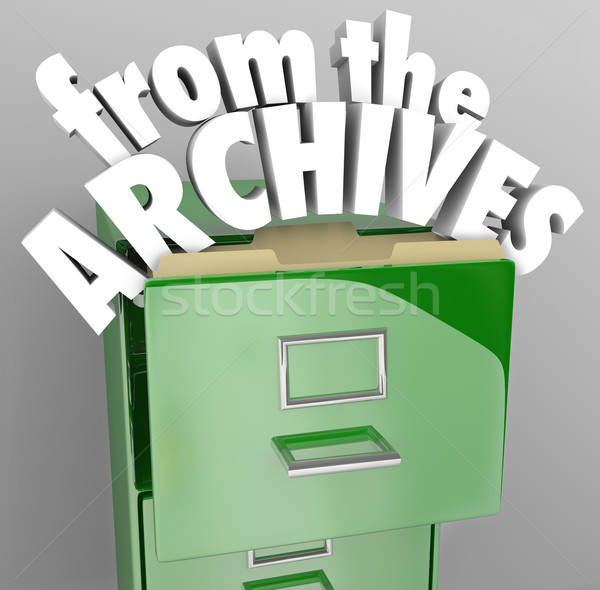 From the Archives File Cabinet Retrieve Historical Records Stock photo © iqoncept