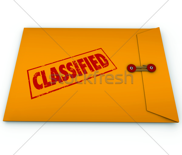 Classified Envelope Private Secret Plans Data Stock photo © iqoncept