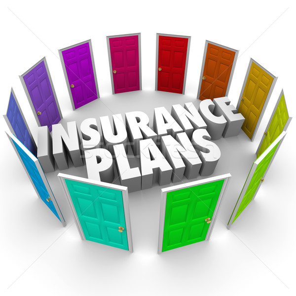 Insurance Plans Many Options Health Care Choices Doors Stock photo © iqoncept