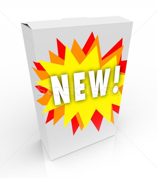 Product Box - New Starburst Stock photo © iqoncept