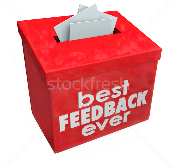 Best Feedback Ever Suggestion Box Ideas Input Comments Stock photo © iqoncept
