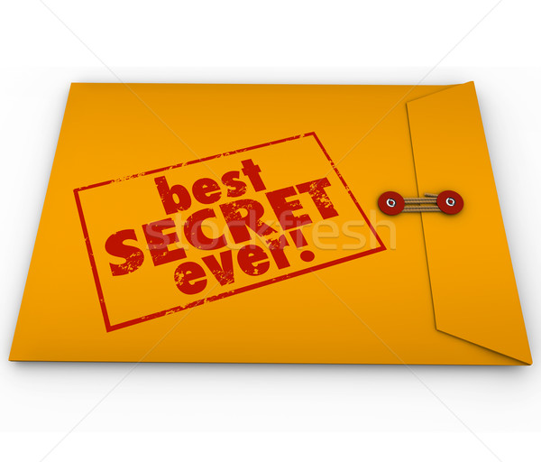 Meilleur secret jaune enveloppe confidentiel informations Photo stock © iqoncept