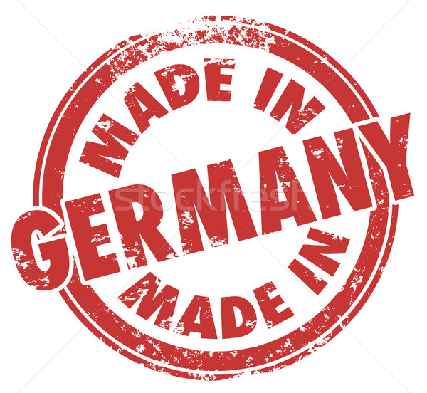 Made in Germany Round Red Stamp National Pride Product Manufactu Stock photo © iqoncept