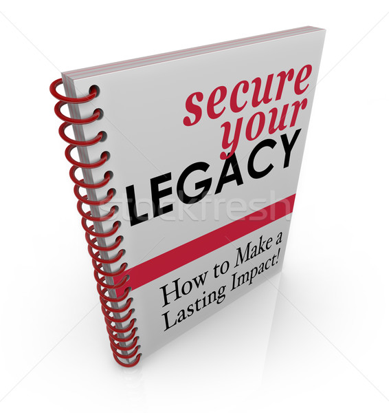 Secure Your Legacy Advice Book How to Protect Assets Finances Stock photo © iqoncept