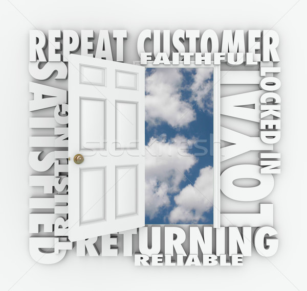 Repeat Loyal Satisfied Customer Open Door Reliable Client Stock photo © iqoncept