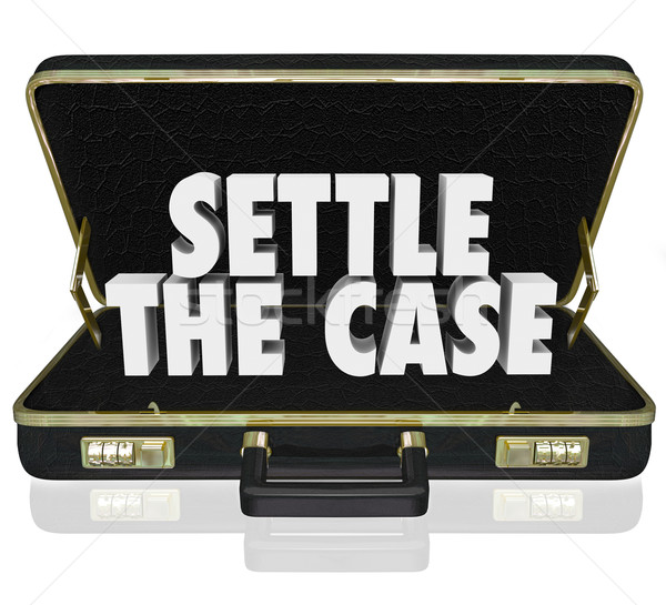 Settle the Case Finish Lawsuit Briefcase Negotiate Settlement De Stock photo © iqoncept