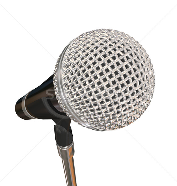 Microphone on Stand Stage Performance Singing Karaoke Stand Up C Stock photo © iqoncept