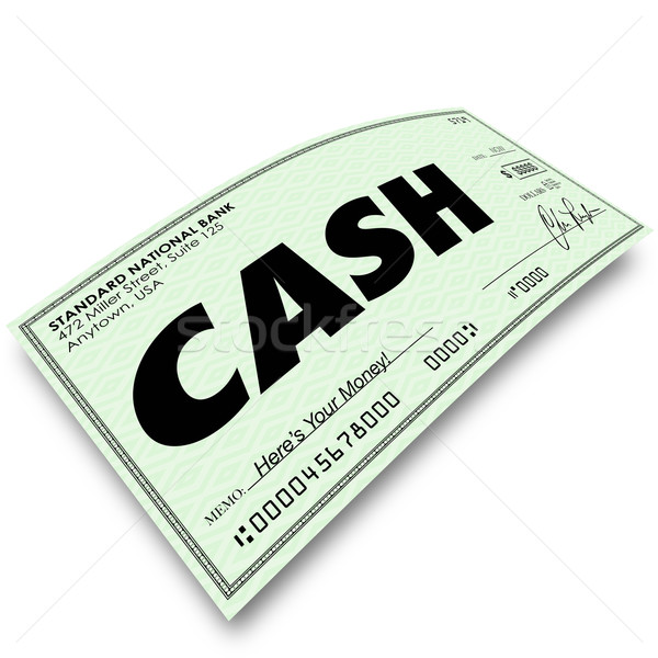 Cash Word on Paper Check Payment Money Paid Stock photo © iqoncept