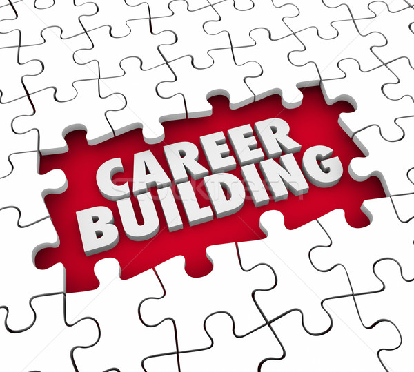Career Building Puzzle Pieces Start New Job Position Experience Stock photo © iqoncept